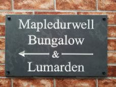 Large engraved slate house sign – 500mm x 300mm; 19.7 inches x 11.8 inches